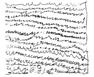 Page d'écriture des Indiens Nambikwara