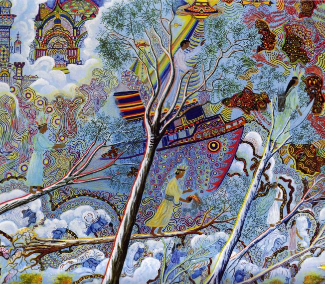 Arbre magique, peinture de Pablo Amaringo (2001)