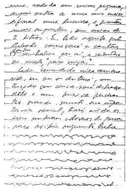 Lignes d'écriture d'un Indien Urubu-Kaapor