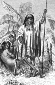 Indiens Conibos (gravure d'Édouard Riou publiée dans l'ouvrage de Paul Marcoy)