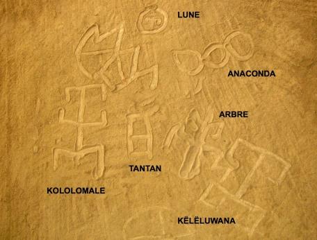 Signes tracés par Pilima (photographie de Mataliwa)