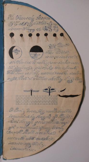 Pseudographie d'Emily Babcock (juin 1843)