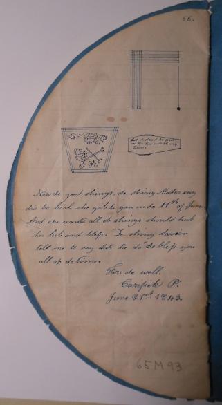 Écriture manuscrite d'Emily Babcock (juin 1843)