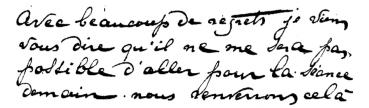 Écriture ordinaire d'Élise Müller
