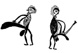 Caricatures de Theodor Koch-Grünberg et d'Otto Schmidt par un Kobéua